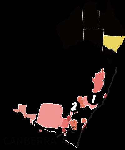 ニューサウスウェールズ州の地図