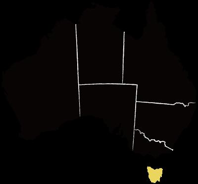 タスマニア州の地図