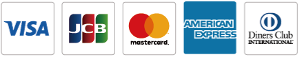VISA,JCB,mastercard,American Express,Diners Club