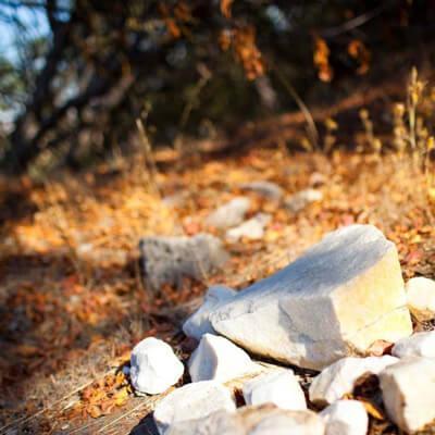 マウントハーランにある石灰岩