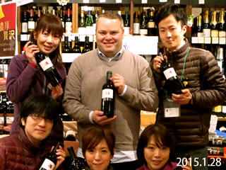 2015年1月28日ヘスティア  オーナー兼ワインメーカー「シャノン・ジョーンズ」がワッシーズにご来店